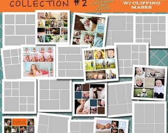 SALE 30x30 Storyboard COLLECTION 2- 20 Custom Photo Templates for Photographers