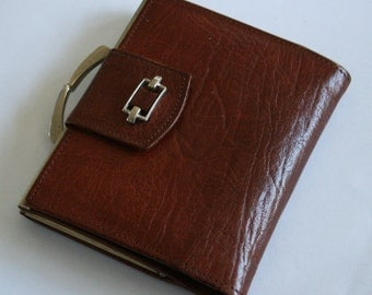 Vintage leather purse. Brown leather wallet