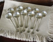 10 Vintage Silverplate Consomme Spoons  Silver Plate