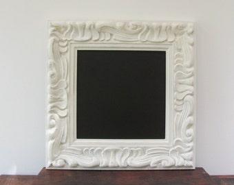 Ornate Cream Chalkboard,Antique White Chalkboard, Wedding Chalkboard, Menu Board