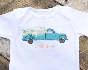 Country Girl Onesies®, Baby Girl Onesie, Baby Girl Clothes, Farm Girl Onesie, Graphic Onesie, Shabby Chic Baby, Cute Baby Clothes, Onesies®