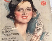 Vintage 1931 Magazine Cosmopolitan Harrison Fisher Signature Cover Articles Advertising This Is A Complete Magazine October 1931
