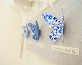 Liberty of London Butterfly Art Canvas Mini ~ Blue ~ Fabric Names ..... Ready to Ship