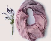 Lavender Scarf - Pure Linen Shawl  - Long Linen Scarf - Lavender Infinity Scarf - Fashion Scarf - Gift- Summer Beach Weddings - Womens Scarf