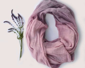 Lavender Scarf - Pure Linen Shawl  - Long Linen Scarf - Lavender Infinity Scarf - Fashion Scarf - Gift- Beach Weddings - Womens Scarf