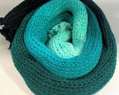 Blurred Lines - fingering weight sock yarn - long color change - Teal Deer