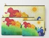 Elephant Rainbow Zippered Pouch
