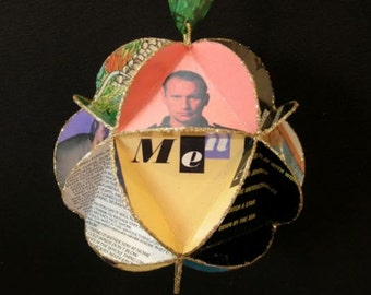 Men At Work Album Cover Ornament Made Of Record Jackets
