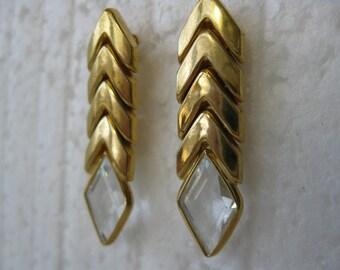 Vintage Le.Gi l8 K Articulate Post Earrings