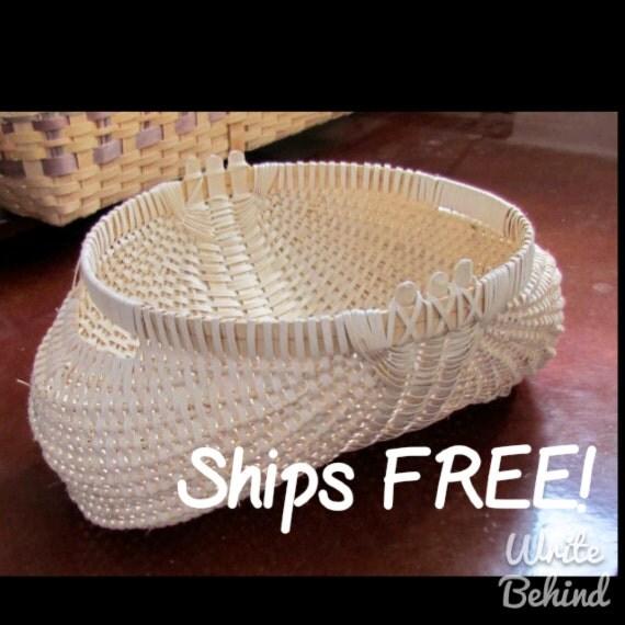 Shaker Style Ribbed Potato Basket