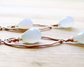 Serenity Earrings Blue Chalcedony Rose Gold Pantone 2016