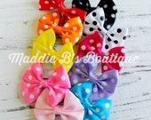 10 Pack Polka Dot hair bows-mini hair bow-multi color polka dot-made by Maddie B's Boutique on Etsy