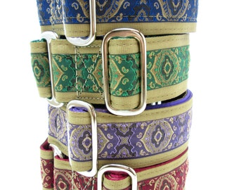 """Houndstown 1.5"""" Orveo Unlined Buckle or Martingale Collar, Any Size"""