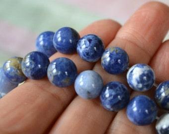 40pcs Sodalite 8mm Round Beads Gemstone Bead 16 Inch Strand