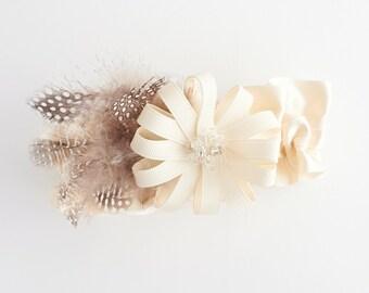 Garter, Wedding Garter, Bridal Garter, Feathered Garter, Feather Wedding Garter, Feather Bridal Garter - Splendid Garter by The Garter Girl