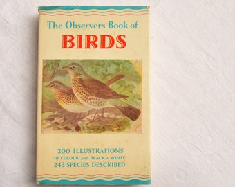 The Observer's Book Of Birds, With Dustcover, Vintage Nature Book, 1966 Edition, Illustrated Animal Book, UK, Bird  Illustrations