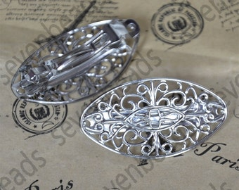 6pcs Antiqued copper wide floral bookmark FC1965