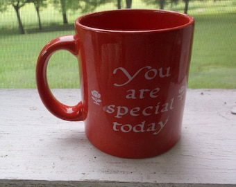 Vintage Waechtersbach You Are Special Today Coffee mug Germany Red