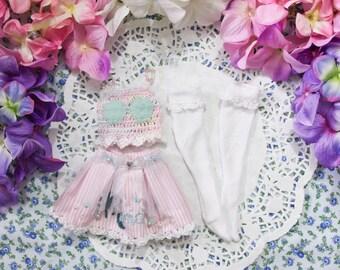 Mermaid lolita skirt crop top pastel special set  - [ Unoa / Minifee / Slim MSD]
