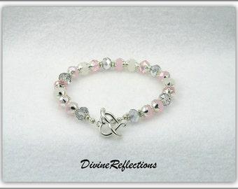 Crystal Bracelet, Multi Color Crystal Bracelet, Cotton Candy Crystals