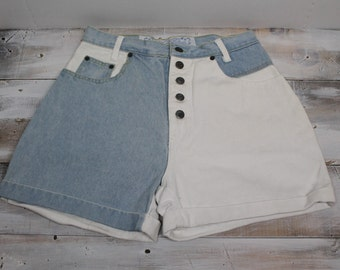 Vintage No Excuses Jean Shorts, High Waist, Femme Fatale, Tough Jeans