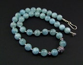 Aquamarine Sterling Silver Necklace - N870