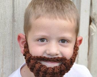 Back to School SALE Duck Dynasty Halloween Costume--Custom Crochet Beard--Yarn Beard--Beard Facewarmer--Baby Lumberjack Beard--Duck Dynasty