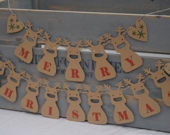 Christmas Bunting Home decor Reindeer Wall Decoration