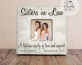 Sister In Law Picture Frame, Personalized Wedding Sister In Law Picture Frame, Sister In Law Gift