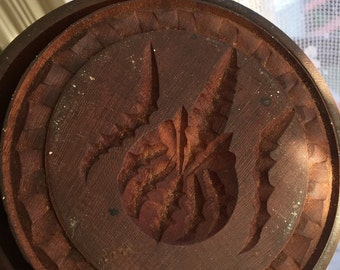 Large butter press mold of pineapple