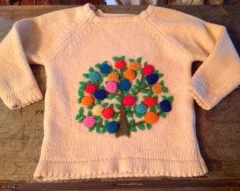 Vintage Exclusive Import British Hong Kong Fine Virgin Wool Sweater Sz S