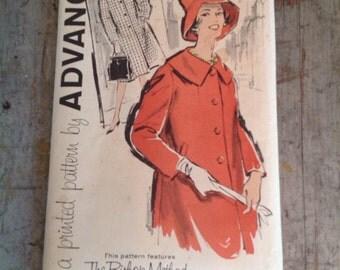 Vintage Sewing Pattern Advance 9560 Misses' Size 14 Coat