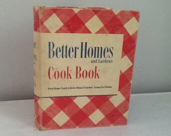 Vintage Better Homes and Gardens Cookbook / Vintage Cookbook / 40's Cookbook