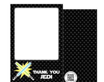 Star Wars Theme Printable Thank You Card - Instant Download - Petite Party Studio
