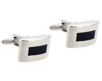 Black And Silver Cufflinks 1200513
