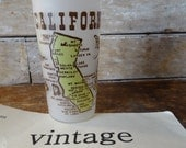 Vintage California Drinking Glass or Souvenir Cup