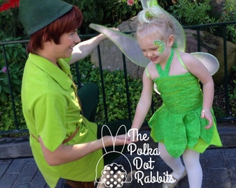 Baby-Toddler-Girls Tinkerbell Halloween Costume-Pageant Theme Wear, OOC, Ruched Bodice, Sparkle Leaf Skirt, Fairy Wings, Size 9 mo thru 8