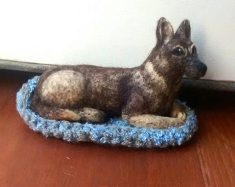Needle Felt German Shepherd