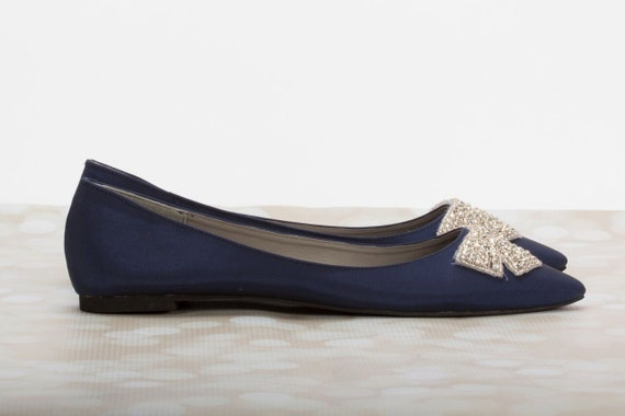 navy blue flats wedding flats bridal shoe blue wedding flats
