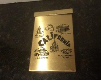 Vintage Brass Cigerette Case