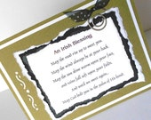 St. Patricks Day Greeting Cards: Handmade Blank Greeting Note Card (Batch No.4) - An Irish Blessing