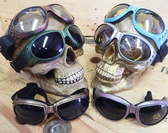 MOST COMFORTABLE 'Burning Man' Padded Lightweight Steampunk Cyber Rave Goggles-Perfect for the Playa!