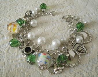 Victorian Charm Bracelet, victorian jewelry edwardian jewelry steampunk jewelry renaissance fantasy art nouveau neo victorian bracelet