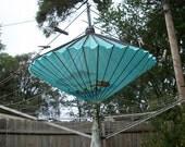 Vintage Very Cool Fold Up Paper Oriental Hanging Lamp In Original Box