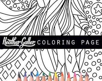 Horse Coloring Book Adult Pages