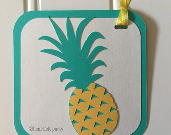 Pineapple Party Decor - Pineapple Tag - Pineapple Party Tag - Pineapple Decorations - Pineapple Gift Tag - Pineapple Party