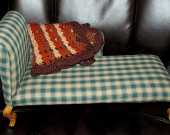 Doll fainting couch vintage or antique - very old for 15-18 inch doll