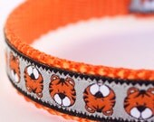 Little Tiger Dog Collar, 5/8 inch width Collar, Small Dog Collar