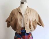 Lightweight cropped short sleeve jacket, original details, size S