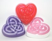 Celtic Heart Soap - Valentines Day, Valentine's Day, hearts, love, party favor, valentine gift, stocking stuffer, mother's day, father's day